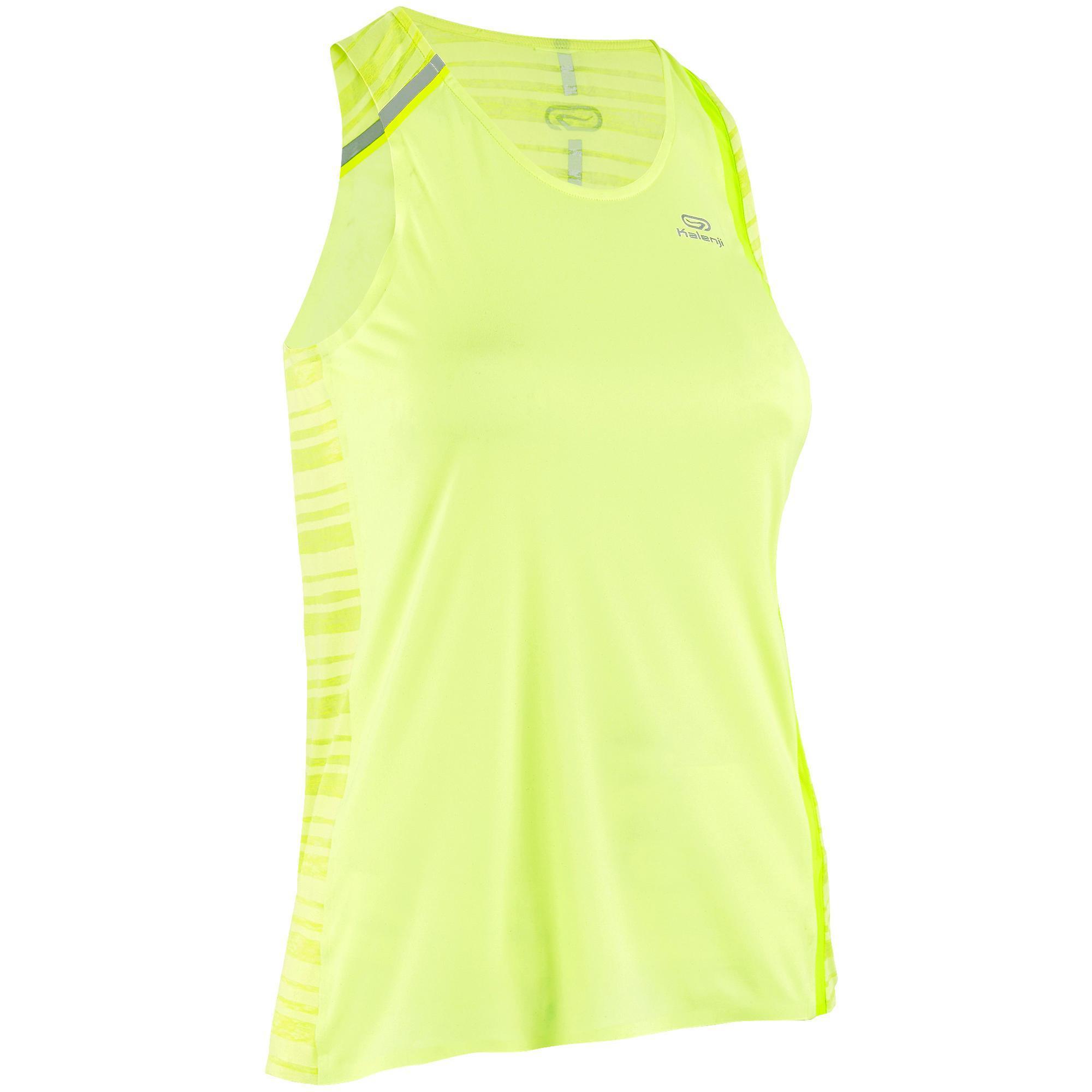 DÉbardeur running femme kiprun light jaune kalenji