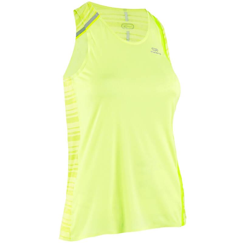DÁMSKÉ BĚŽECKÉ OBLEČENÍ TEPLÉ/MÍRNÉ POČASÍ Běh - TÍLKO KIPRUN LIGHT ŽLUTÉ KIPRUN - Běžecké oblečení