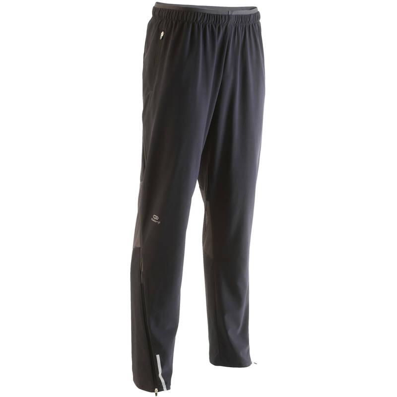 PÁNSKÉ BĚŽECKÉ OBLEČENÍ NA BĚH PO SILNICI Běh - BĚŽECKÉ KALHOTY KIPRUN ČERNÉ  KIPRUN - Běžecké oblečení