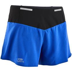 Pantalón Corto Deportivo Running Kalenji Kiprun Light Mujer Azul Índigo