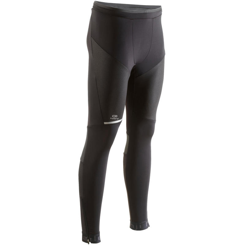 d78b9a385f8f8d KIPRUN MEN'S RUNNING TIGHTS - BLACK