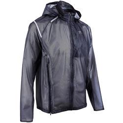 男款跑步防水外套KIPRUN LIGHT - 黑色