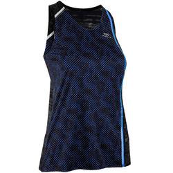 Camiseta Sin Mangas Running Kalenji Kiprun Light Mujer Negro/Azul Transpirable