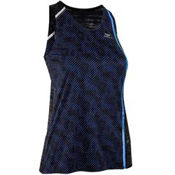 Camiseta Sin Mangas Running Kalenji Mujer Negro/Azul Transpirable