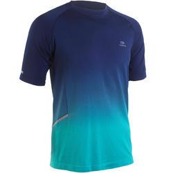 男款跑步T恤KIPRUN CARE - 藍色/綠色