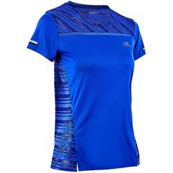 Camiseta Manga Corta Running Kalenji Mujer Azul Índigo