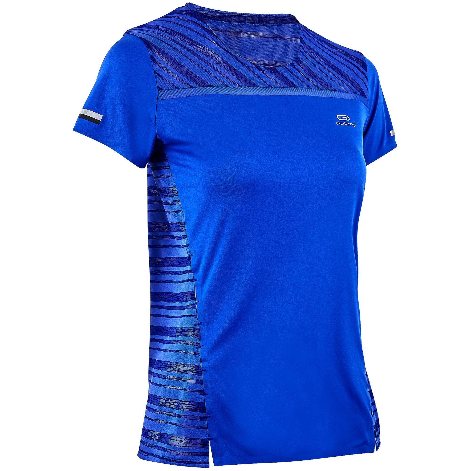 Kalenji Hardloopshirt voor dames Kiprun Light blauw
