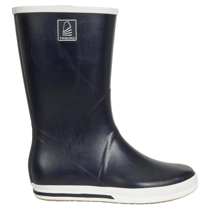 Zeillaarzen voor volwassenen Sailing 500 marineblauw