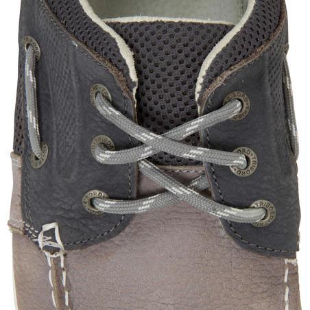 Chaussures bateau cuir homme CLIPPER Gris