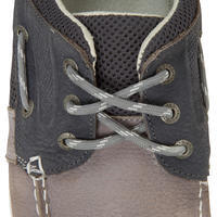 Men's Leather Boat Shoes CLIPPER - Grey