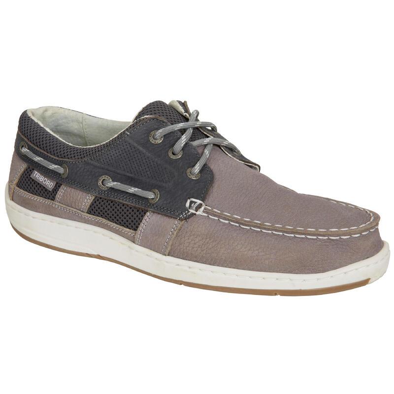 Zapatos náuticos hombre Tribord CLIPPER Gris