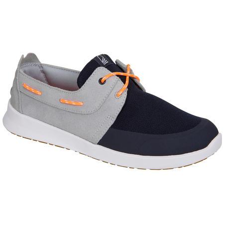 Chaussures bateau femme Croisière 100 vert bleu gris