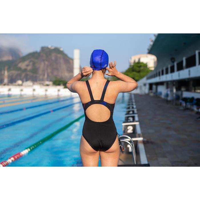 Maillot de bain de natation une pièce femme résistant au chlore Kamiye oil noir