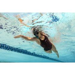 Maillot de bain de natation une pièce femme résistant au chlore Kamiye imo noir