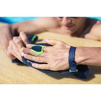Palas Natación Correctoras Nabaiji Easystroke 500 Azul Marino/Verde Fluorescente