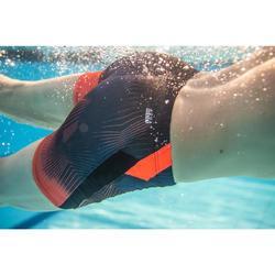 Lange zwemboxer heren 500 grad oranje