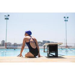 Maillot de bain de natation une pièce femme résistant au chlore Jade imo noir