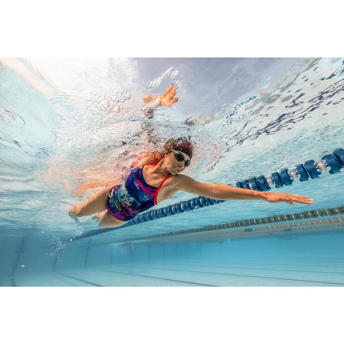 Bañador de natación una pieza mujer, resistente al cloro Jade Jad azul