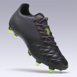 Voetbalschoenen volwassenen Agility 540 leer SG zwart voor drassig terrein