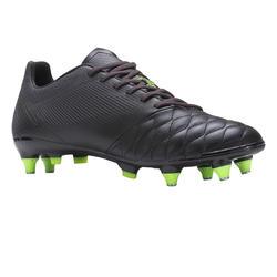 Voetbalschoenen voor volwassenen Agility 540 leer SG zwart voor drassig terrein