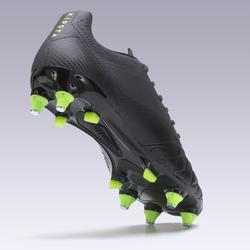 Botas de Fútbol adulto Kipsta Agility 700 piel SG negro