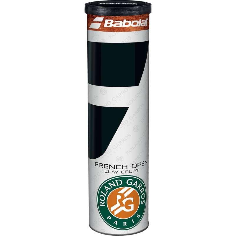 TENNIS BALLS - FRENCH OPEN CLAY TENNIS BALLS - 4 BALLS BABOLAT