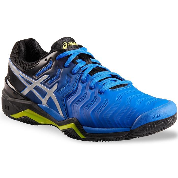 asics tennisschoenen voor heren gel resolution speed 7 blauw/zilver