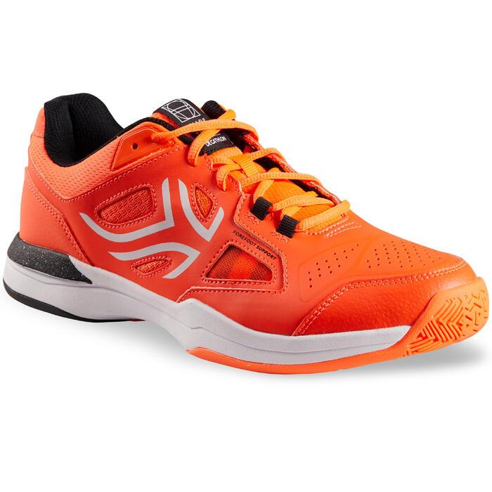 Tennisschoenen heren TS560 oranje multicourt