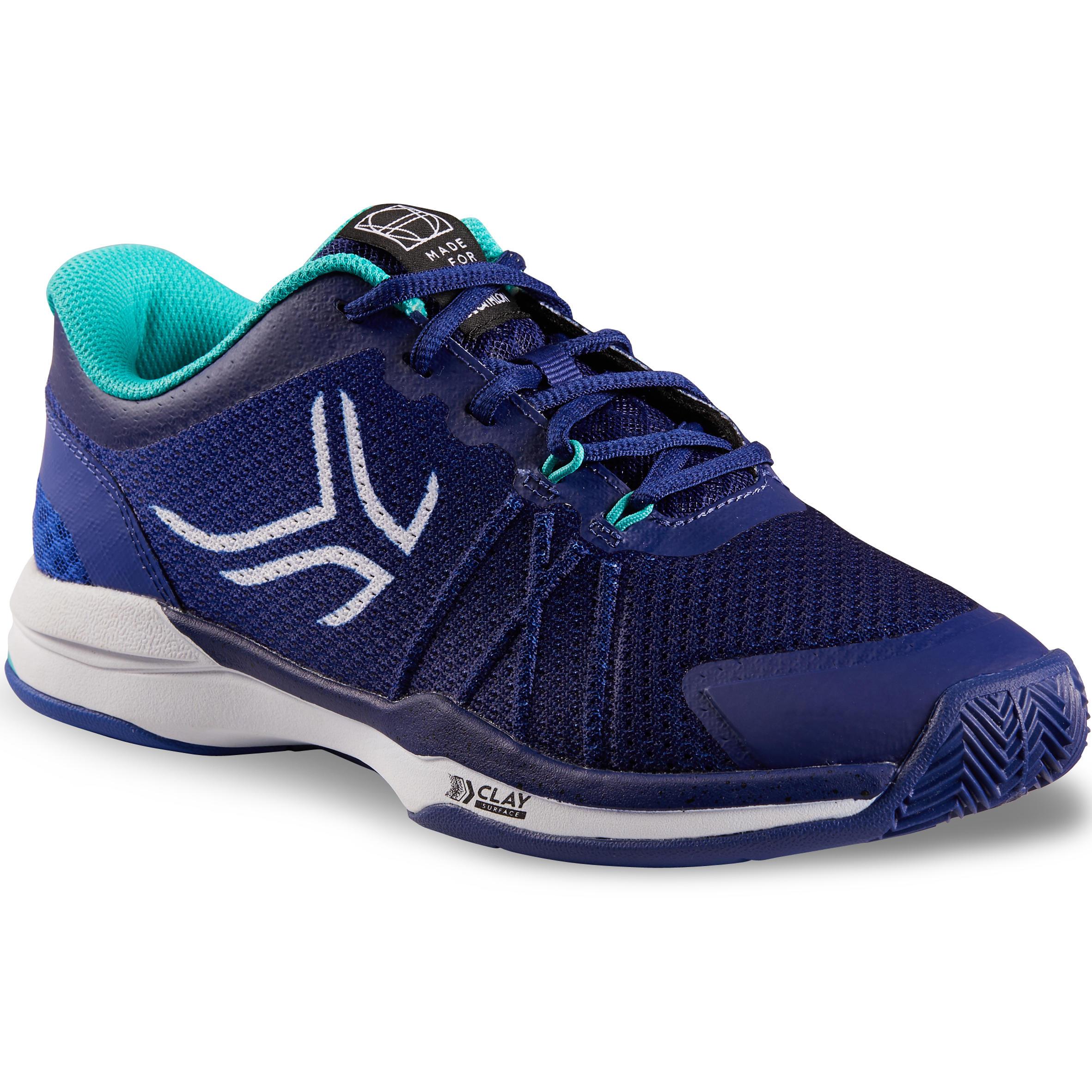 Tennisschuhe TS590 Sandplatz Damen blau | Schuhe > Sportschuhe > Tennisschuhe | Artengo