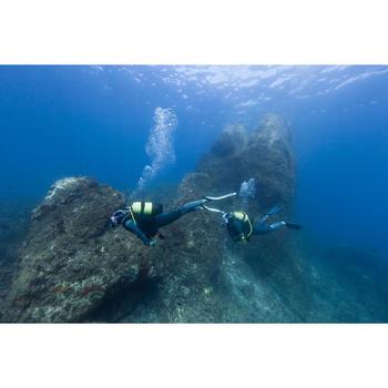 Masque de plongée sous marine SCD 500 Bi-hublot jupe cristal et rose