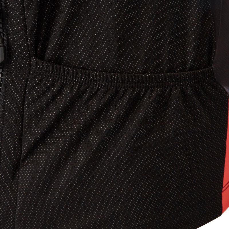 เสื้อปั่นจักรยานเสือภูเขาแขนสั้นรุ่น ST 500 (สีแดง/ดำ)