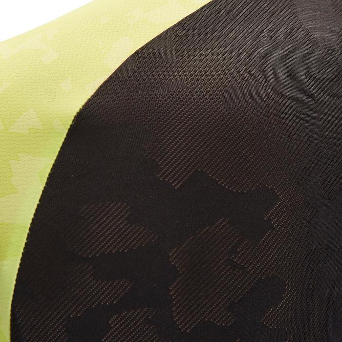Kurzarm-Radtrikot MTB ST500 Herren schwarz/gelb