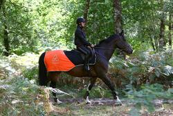 Uitrijdeken ruitersport oranje en zwart - 158412