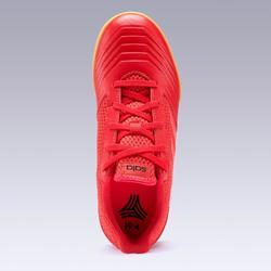 Zapatillas de Fútbol Sala Adidas Predator Tango 4 niños rojo