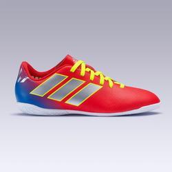 Zapatillas de fútbol sala NEMEZIZ MESSI júnior 19.4 rojo plateado