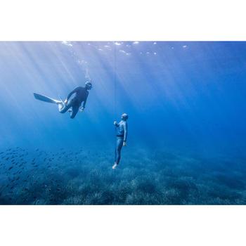 Veste de combinaison d'Apnée Freediving néoprène 3mm FRD900 gris print