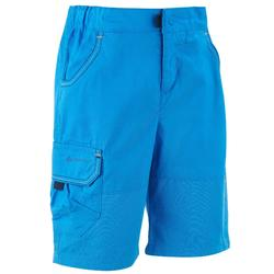 Kids' hiking shorts MH500 KID - Blue