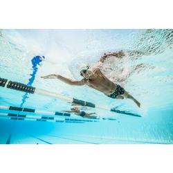 Zwemboxer voor jongens 500 Fit All Moba geel blauw