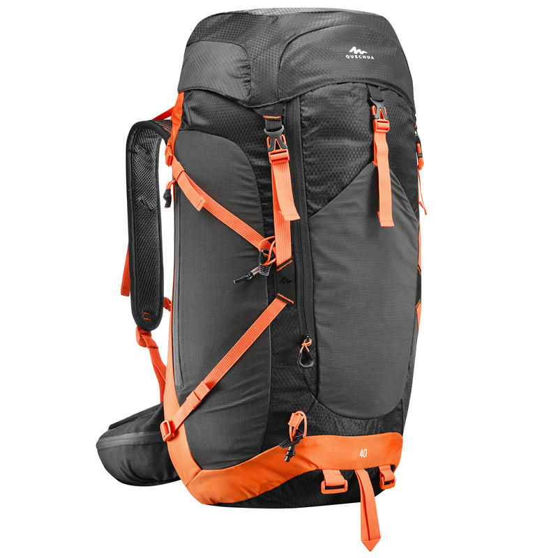 MH500 40L Mountain Hiking Backpack - Black Orange