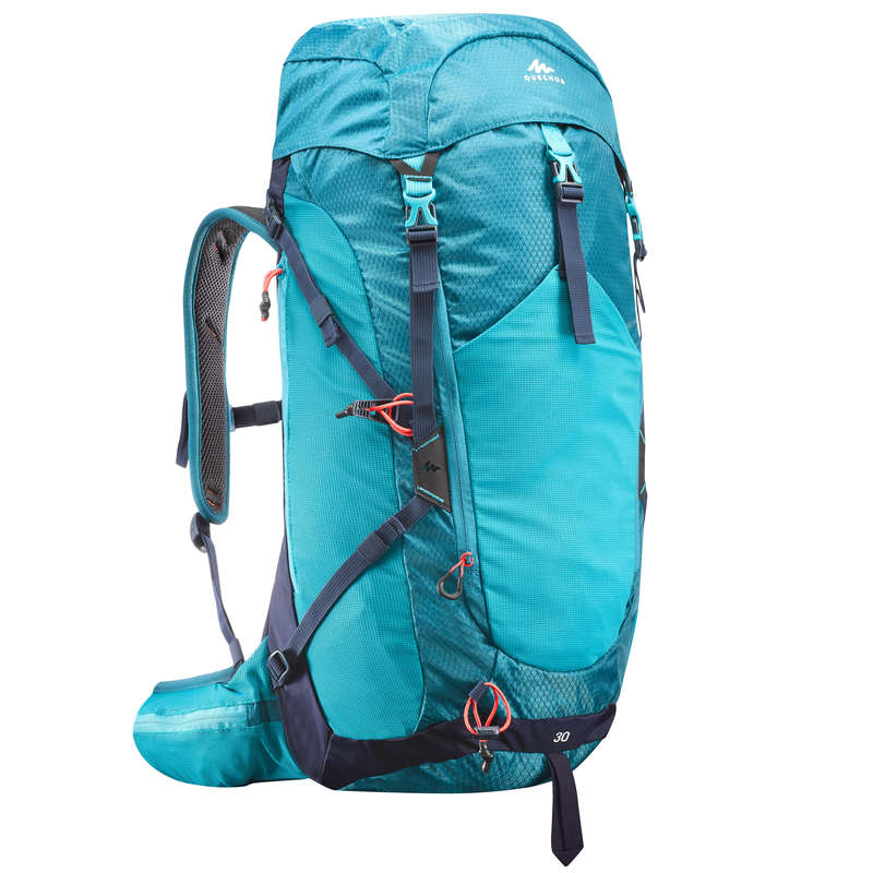 RUCSACURI DRUMEȚII MUNTE 20L A 40L Drumetie, Trekking - Rucsac MH500 30 L Albastru  QUECHUA - Drumetie, Trekking