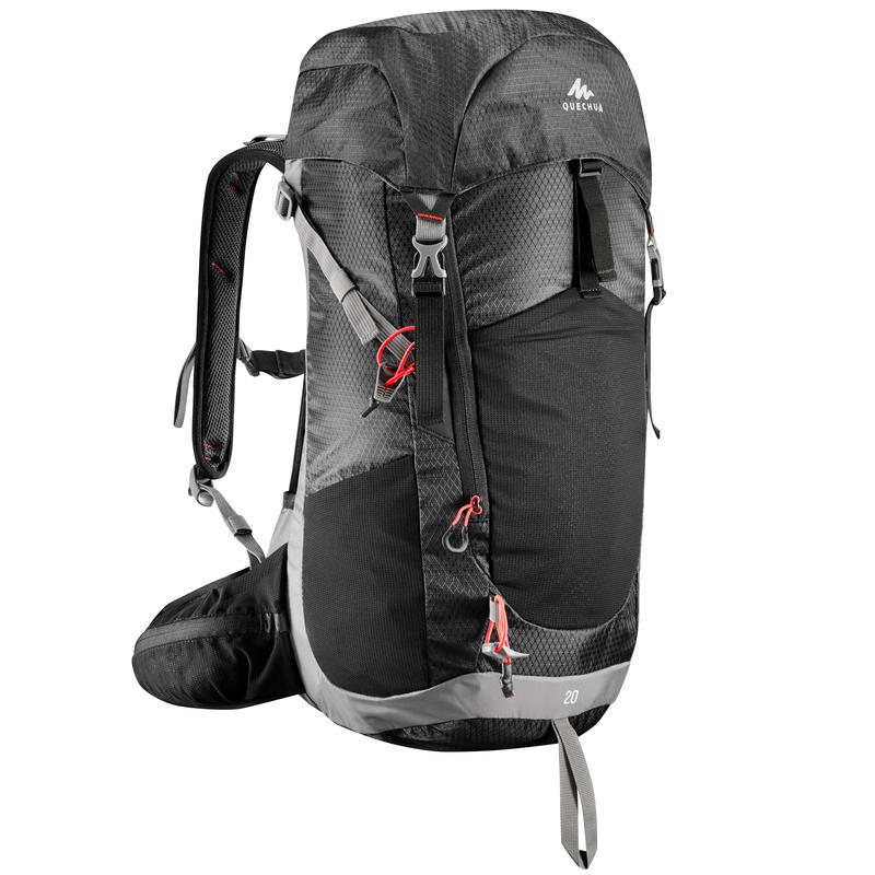 MH500 20-LITRE MOUNTAIN HIKING BACKPACK - BLACK