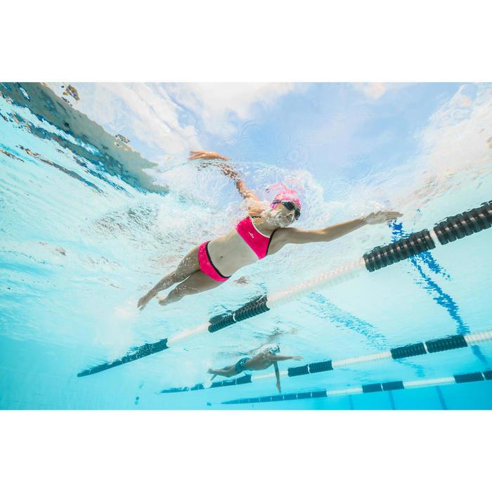 Sujetador-top de natación niña ultra resistente al cloro Jade walo rosa