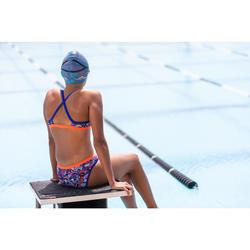 Sujetador-top de natación niña ultra resistente al cloro Jade roller azul