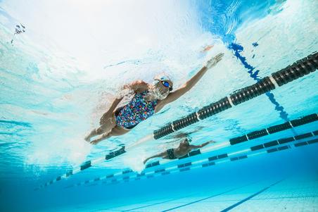 Kamiye Girl's Chlorine-Resistant One-Piece Swimsuit - Roller
