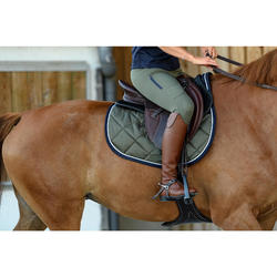 Bottes cuir équitation adulte 900 JUMP M marron