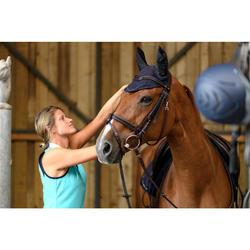 Pferdehaube HD Strass marineblau