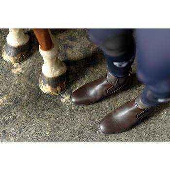 Boots cuir équitation adulte 560 marron