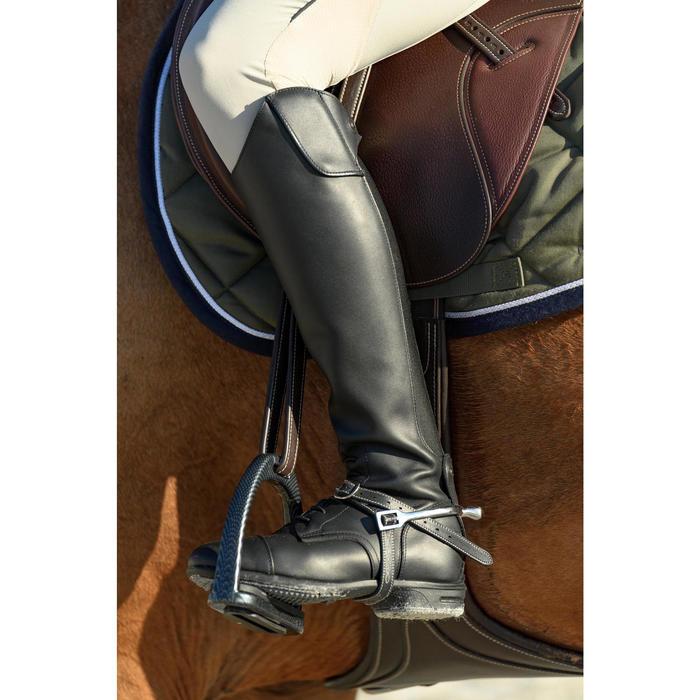 Botas de piel equitación adulto 900 JUMP pantorrilla S negro