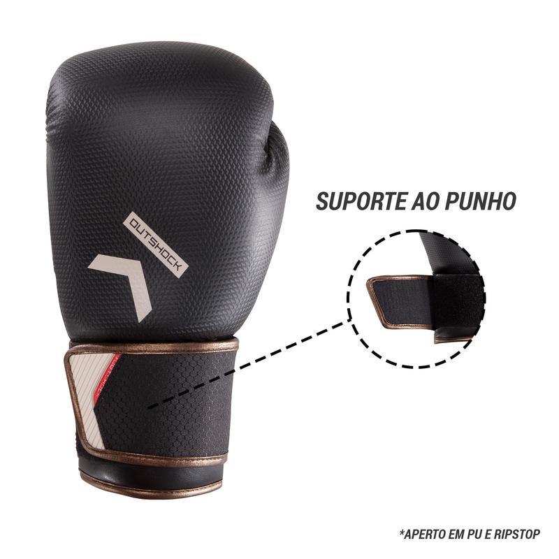 Luvas de Boxe Nível Intermédio Homem e Mulher 500 Carbono  d1687c451770b