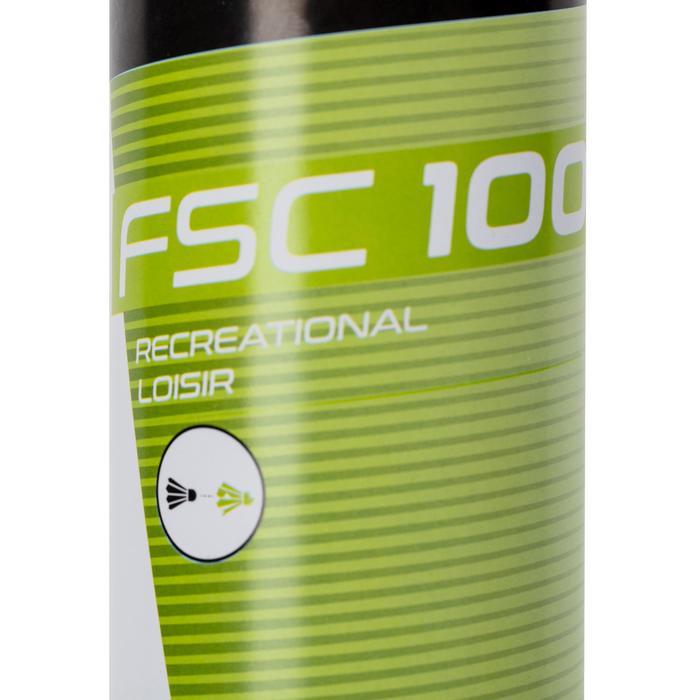 12入羽毛製羽球FSC 100